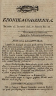 Kronika Codzienna. 1823, nr 46 (15 lutego)