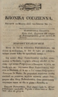 Kronika Codzienna. 1823, nr 71 (12 marca)