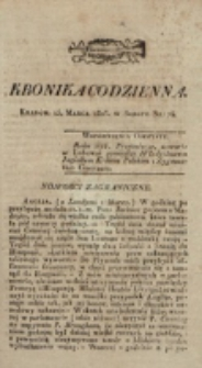 Kronika Codzienna. 1823, nr 74 (15 marca)