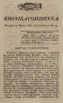 Kronika Codzienna. 1823, nr 79 (20 marca)