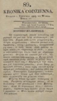 Kronika Codzienna. 1823, nr 89 (1 kwietnia)