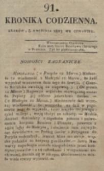 Kronika Codzienna. 1823, nr 91 (3 kwietnia)