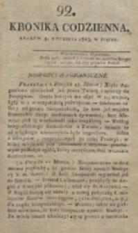 Kronika Codzienna. 1823, nr 92 (4 kwietnia)