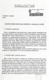 Współczesne postacie sporów o zadania nauki / Zygmunt Hajduk.