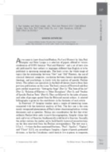 Recenzja : J. Paul Sampley and Peter Lampe, eds., Paul and Rhetoric (T&T Clark Biblical Studies; New York: T&T Clark, 2010). Pp. xvii + 260. Hardcover. $130,00. ISBN 978-0-56-702704-7.