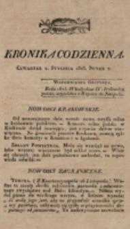 Kronika Codzienna. 1823, nr 2 (2 stycznia)