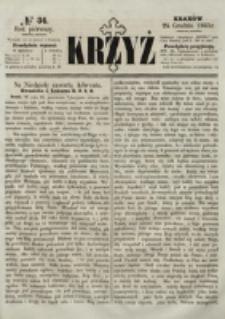 Krzyż. R. 1 (1865), nr 34