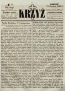 Krzyż. R. 2 (1866), nr 7