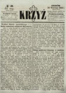 Krzyż. R. 2 (1866), nr 22