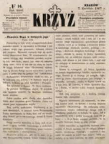 Krzyż. R. 3 (1867), nr 14