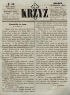 Krzyż. R. 3 (1867), nr 15