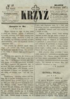 Krzyż. R. 3 (1867), nr 17