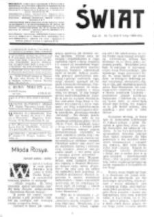 Świat : [pismo tygodniowe ilustrowane poświęcone życiu społecznemu, literaturze i sztuce. R. 4 (1909), nr 7 (13 lutego)