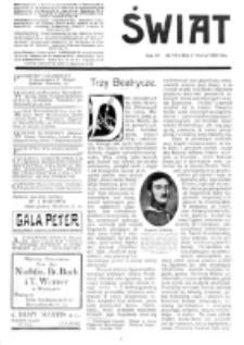Świat : [pismo tygodniowe ilustrowane poświęcone życiu społecznemu, literaturze i sztuce. R. 4 (1909), nr 13 (27 marca)