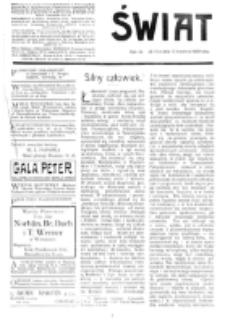 Świat : [pismo tygodniowe ilustrowane poświęcone życiu społecznemu, literaturze i sztuce. R. 4 (1909), nr 15 (10 kwietnia)