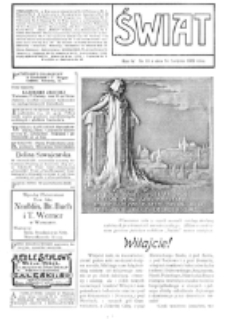 Świat : [pismo tygodniowe ilustrowane poświęcone życiu społecznemu, literaturze i sztuce. R. 4 (1909), nr 33 (14 sierpnia)