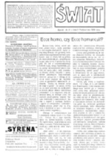 Świat : [pismo tygodniowe ilustrowane poświęcone życiu społecznemu, literaturze i sztuce. R. 4 (1909), nr 41 (9 października)