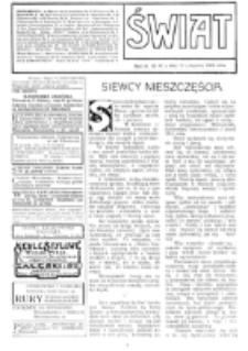 Świat : [pismo tygodniowe ilustrowane poświęcone życiu społecznemu, literaturze i sztuce. R. 4 (1909), nr 46 (13 listopada)
