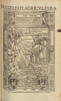 Pavli Rici, De Coelesti Agricvltvra.