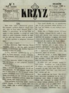 Krzyż. R. 4 (1868), nr 7