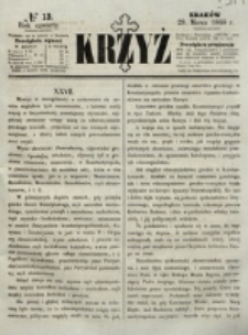 Krzyż. R. 4 (1868), nr 13
