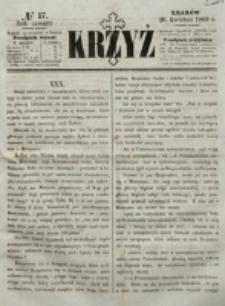 Krzyż. R. 4 (1868), nr 17