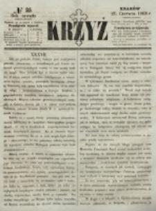 Krzyż. R. 4 (1868), nr 25