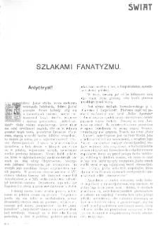 Świat : [pismo tygodniowe ilustrowane poświęcone życiu społecznemu, literaturze i sztuce. R. 1 (1906), nr 9 (3 marca)