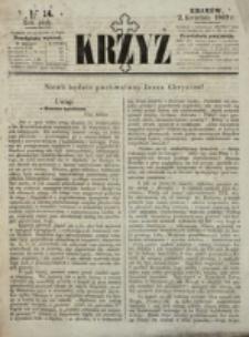 Krzyż. R. 5 (1869), nr 14