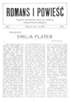 Romans i Powieść. R. 1, nr 18 (1 maja 1909)