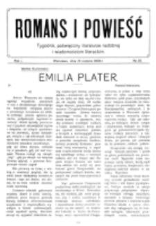 Romans i Powieść. R. 1, nr 35 (28 sierpnia 1909)