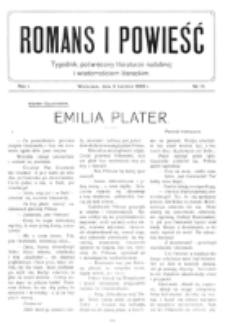 Romans i Powieść. R. 1, nr 14 (3 kwietnia 1909)