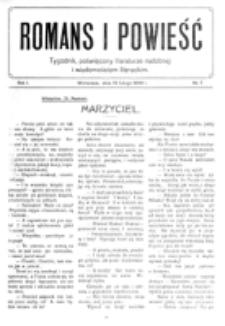 Romans i Powieść. R. 1, nr 7 (13 lutego 1909)