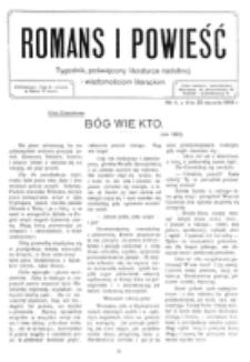 Romans i Powieść. R. 1, nr 4 (23 stycznia 1909)