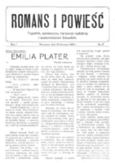 Romans i Powieść. R. 1, nr 47 (20 listopada 1909)