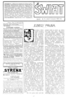 Świat : [pismo tygodniowe ilustrowane poświęcone życiu społecznemu, literaturze i sztuce. R. 4 (1909), nr 45 (6 listopada)