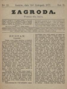 Zagroda : pismo dla ludu. R. 2, nr 22 (24 listopada 1872)