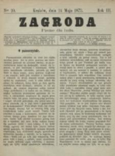 Zagroda : pismo dla ludu. R. 3, nr 10 (24 maja 1873)