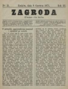 Zagroda : pismo dla ludu. R. 3, nr 11 (8 czerwca 1873)
