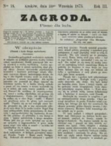 Zagroda : pismo dla ludu. R. 3, nr 18 (24 września 1873)