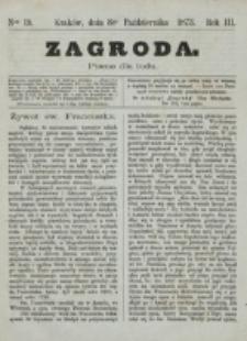 Zagroda : pismo dla ludu. R. 3, nr 19 (8 października 1873)
