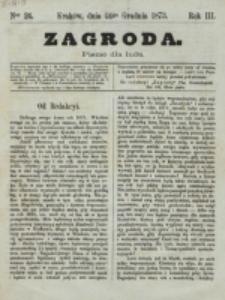 Zagroda : pismo dla ludu. R. 3, nr 24 (24 grudnia 1873)
