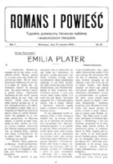 Romans i Powieść. R. 1, nr 38 (18 września 1909)