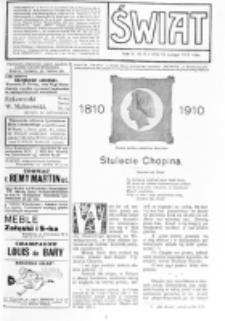 Świat : [pismo tygodniowe ilustrowane poświęcone życiu społecznemu, literaturze i sztuce. R. 5 (1910), nr 8 (19 lutego)