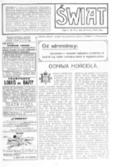 Świat : [pismo tygodniowe ilustrowane poświęcone życiu społecznemu, literaturze i sztuce. R. 5 (1910), nr 13 (26 marca)