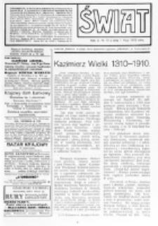 Świat : [pismo tygodniowe ilustrowane poświęcone życiu społecznemu, literaturze i sztuce. R. 5 (1910), nr 19 (7 maja)