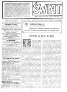Świat : [pismo tygodniowe ilustrowane poświęcone życiu społecznemu, literaturze i sztuce. R. 5 (1910), nr 25 (18 czerwca)