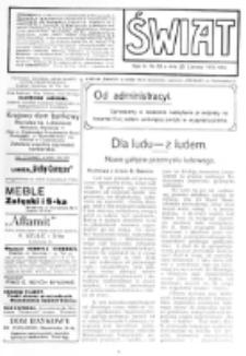 Świat : [pismo tygodniowe ilustrowane poświęcone życiu społecznemu, literaturze i sztuce. R. 5 (1910), nr 26 (25 czerwca)