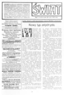 Świat : [pismo tygodniowe ilustrowane poświęcone życiu społecznemu, literaturze i sztuce. R. 5 (1910), nr 31 (30 lipca)