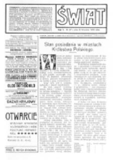 Świat : [pismo tygodniowe ilustrowane poświęcone życiu społecznemu, literaturze i sztuce. R. 5 (1910), nr 37 (10 września)